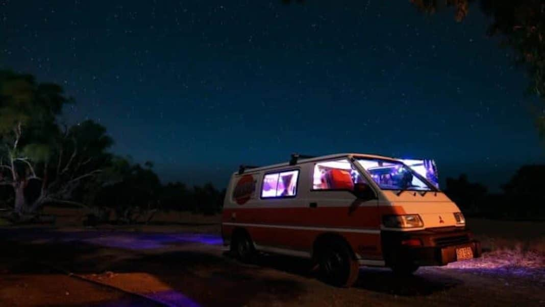 campervan night