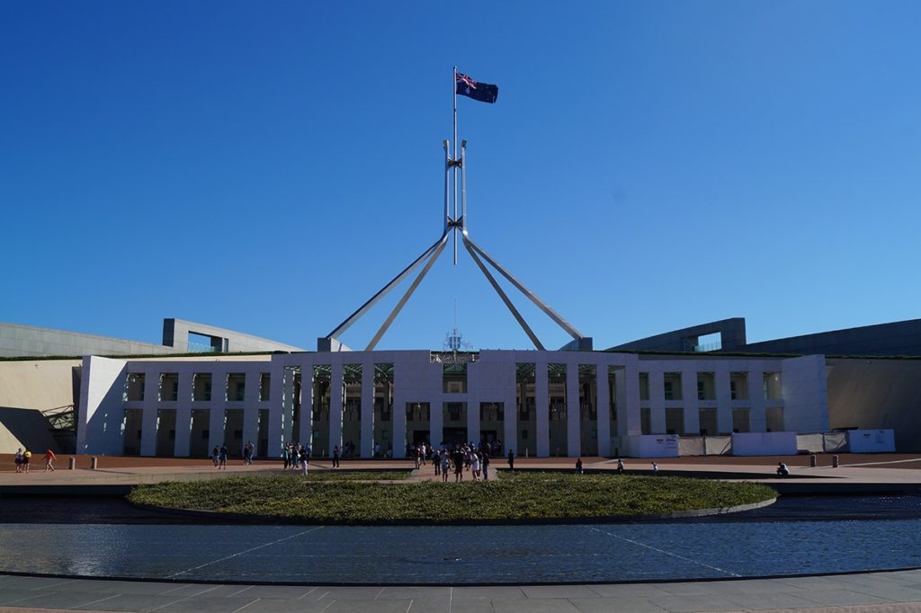 2 days in canberra parlament